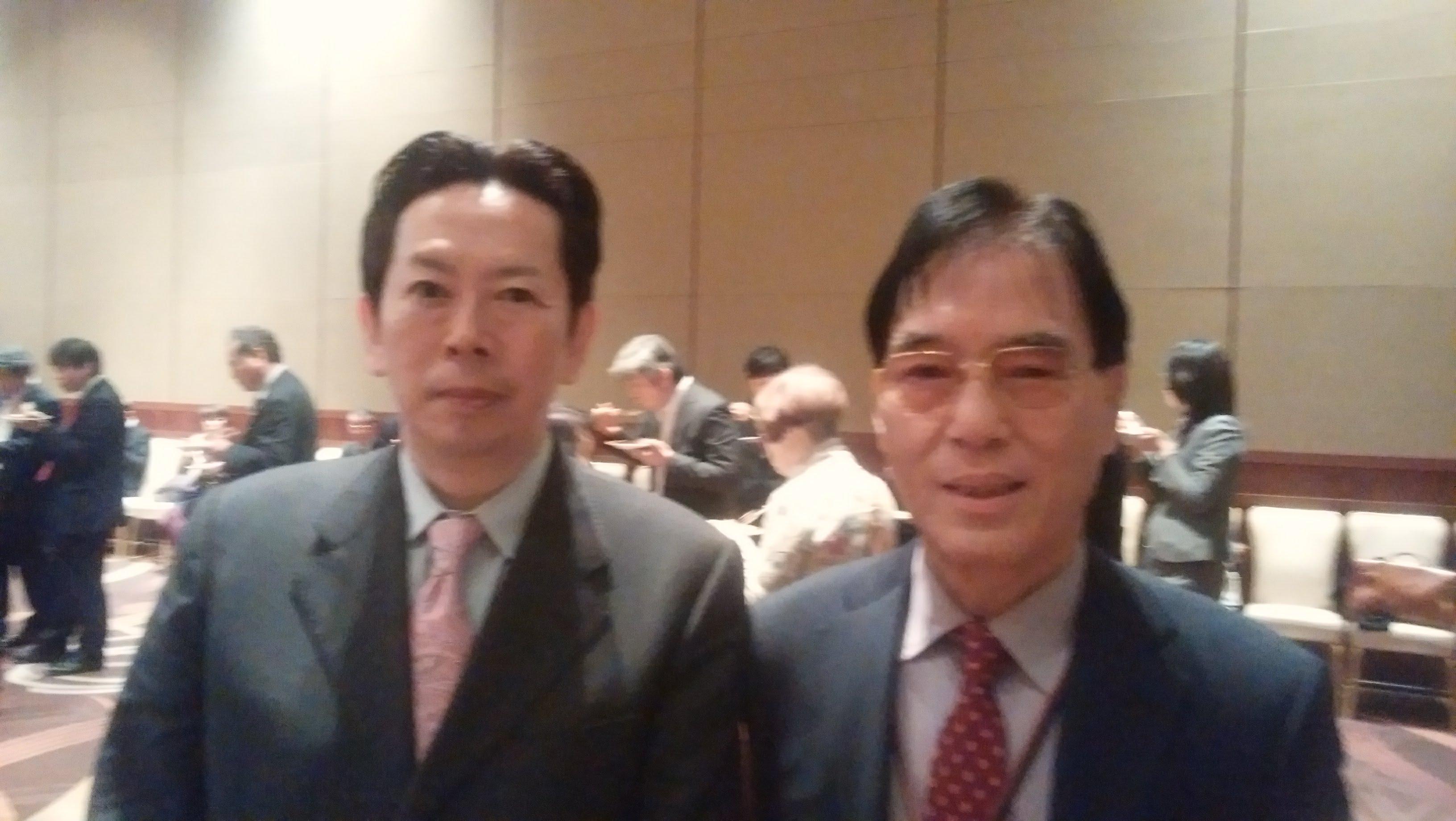 小沢一郎政経フォーラムで植草さんに会いました。